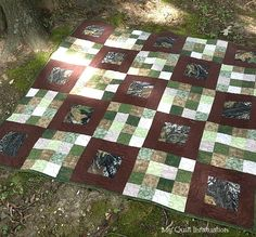 My Quilt Infatuation used FourSquared pattern to create this masculine gem.
