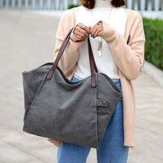 High-quality Casual Durable Thicker Canc   vas Handbag Light Casual Large Capacity Shoulder Bag For Women - NewChic Mobile.