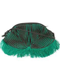 Issey Miyake fringed textured shoulder bag
