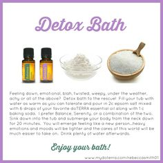 I can't believe how much of a difference it made to my health by detoxing with these essential oils.  I also lost loads of weight as my body was really needing a detox.   This is the easiest detox I've ever done.  This is the detox I did: http://www.greenthickies.com/oils