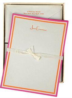 Joan Crawford's Stationery