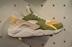 90c4c164b633 Exclusive  This Massive Collection of Nike Air Huaraches Will Blow You  AwayDark Olive White Varsity Maize Ivory (2000