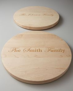 Personalized Lazy Susan, Brown