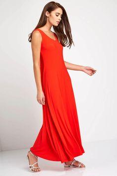 Rochie simpla lunga, de culoare portocalie - Rochii - Rochii de primavara-vara Mai, One Shoulder, Formal Dresses, Casual, Fashion, Dresses For Formal, Moda, Formal Gowns, Fashion Styles