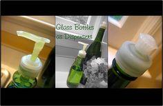 Cómo hacer un dispensador de jabón reutilizando una botella de vidrio y un viejo cabezal