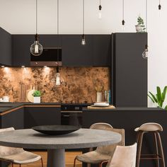 7 Old Town Clapham Apartment // cgi visualization by DOUBLE AYE Studio. Visualization done with Autodesk Max, Vray, Pixologic Zbrush, ArionFX & Marvelous Designer. 3d Interior Design, Interior And Exterior, Houzz, Kitchen Tiles, Kitchen Design, 3d Max Vray, Casa Loft, Live In Style, Black Tiles