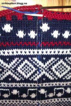 Strikkepiken – Montering av kofte med enkle stolper og i sydde armer Scandinavian, Tutorials, Knitting, My Love, Sweaters, Tricot, Breien, Pullover, Stricken
