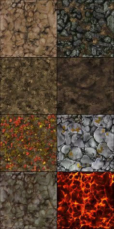 Show your hand painted stuff, pls! - Page 49 - polycount Line Texture, 3d Texture, Game Textures, Textures Patterns, Terrain Texture, Pathfinder Maps, Dungeons And Dragons Homebrew, Hand Painted Textures, Dungeon Maps