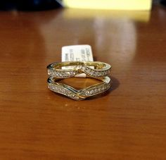 Yellow Gold Solitaire Enhancer Ring Guard Wrap (0.35ct. tw)- RG331398267794