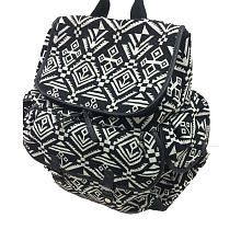 Carters Baby Aztec Jacquard Backpack Diaper Bag  Black