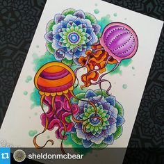 #tombow art by @sheldonmcbear on Instagram Ursa Minor, Tombow Usa, Tombow Dual Brush Pen, Adult Coloring, Hand Lettering, Create Yourself, Illustration Art, Dots, Paper Crafts