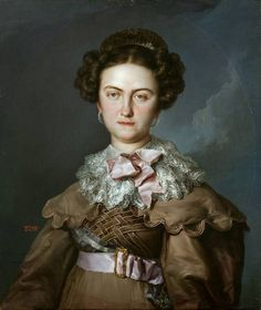 1828 fashion dress María Josefa Amalia de Sajonia.