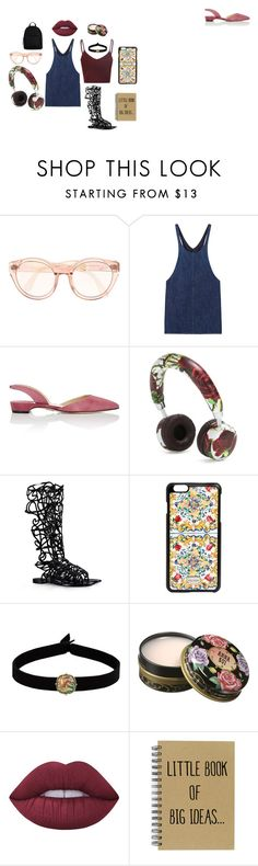 """creative"" by amagitmeliyim on Polyvore featuring moda, MANGO, Paul Andrew, Dolce&Gabbana, Alberta Ferretti, The Flexx, Anna Sui, Lime Crime, New Look ve music"