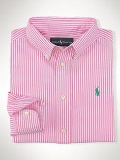 Striped Cotton Blake Shirt - Sport Shirts  Boys 8–20 - RalphLauren.com
