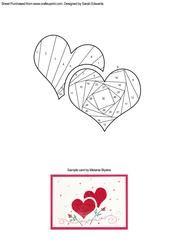 Two Hearts Iris Folding Pattern