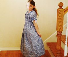 SARAH Pretty Girls Prairie Dress/ Pioneer by NaturalCharmHeirloom, $64.00