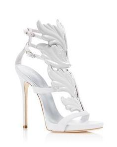 fb5118abc57 Sergio Rossi Mermaid Swarovski Crystal High Heel Caged Sandal Booties