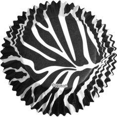 Zebra Print Baking Cups 75ct