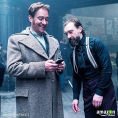 Edmund Reid and Jedediah Shine, behind the scenes of Ripper Street. My fave Victorian crime series!