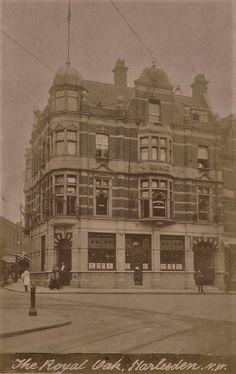 Old Postcard - Royal Oak. London Pubs, Royal Oak, Old Postcards, Taj Mahal, Past, Times, Black And White, History, Building