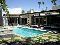 mid-century modern pools - Google Search