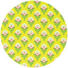 """Heather Bailey, Clementine, Buttercup Lemon  Fabric is sold by the 1/2 Yard. For example, if you would like to purchase 1 Yard, you would enter 2 in the Qty. box at Checkout. Yardage is cut in one continuous piece.  Examples:  1/2 yard = 1 1 yard = 2 1 1/2 yards = 3 2 yards = 4  1/2 Yard Measures 18"""" x 44/45""""   Fiber Content: 100% Cotton  Hover over image for a larger, better view."""