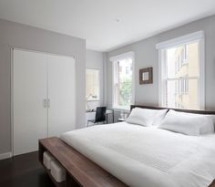benjamin moore gray sky 2131-70 | our first home | master bedroom