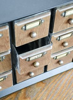 to Make a Faux Card Catalog From a Hardware Organizer WOW, this makeover is awesome! Learn how to make a faux card catalog from a hardware organizer.WOW, this makeover is awesome! Learn how to make a faux card catalog from a hardware organizer. Home Decor Furniture, Furniture Makeover, Diy Home Decor, Furniture Design, Refinished Furniture, Upcycled Crafts, Diy Crafts, Hardware Organizer, Craft Storage