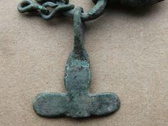 VIKING Period Bronze Scandinavian AMULET THOR'S HAMMER and GOD Face 900 AD VF++   eBay
