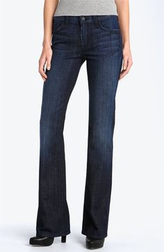 7 For All Mankind® Mid Rise Bootcut Stretch Jeans (Los Angeles Dark) available at #Nordstrom