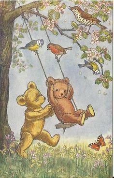 Vintage Postcard Adorable Teddy Bears by postcardsintheattic, $4.95