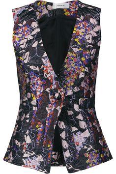 CARVEN Floral-Jacquard Vest. #carven #cloth #vest