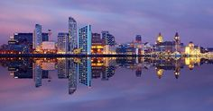 Merseyside Flourishing Promoter : The Good and The Positive of Merseyside (Liverpool City Region / Wirral) Liverpool Waterfront, Liverpool Skyline, Liverpool Home, New York Skyline, Liverpool Shopping, Liverpool History, Liverpool England, Night Scenery, History Of Photography