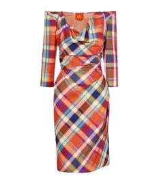 westood vivienne Harlequin Short Amber Dress