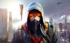 Preview wallpaper killzone shadow fall, helghast, soldiers, city, metropolis, guerrilla games, sony computer entertainment