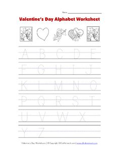 Trace  Color Heart  Worksheets Motor skills and Writing skills