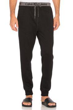 Gris Calvin Klein Homme Logo Joggers Clothing, Shoes & Accessories