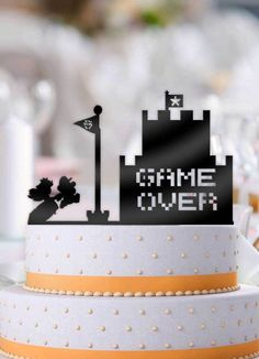 Mario and Peach Game Over Castle Wedding Cake Topper Gamer Wedding Cake, Castle Wedding Cake, Wedding Cake Toppers, Wedding Cakes, Chocolate Hazelnut Cake, Mario Cake, Making A Wedding Dress, Peach Cake, Wedding Dress Patterns