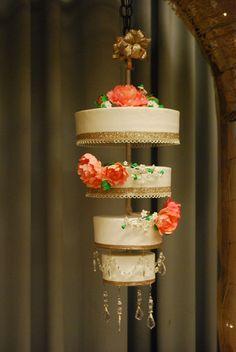 Chandelier Upside Down Wedding Cake 4 Tier Round Top Cakes Medford