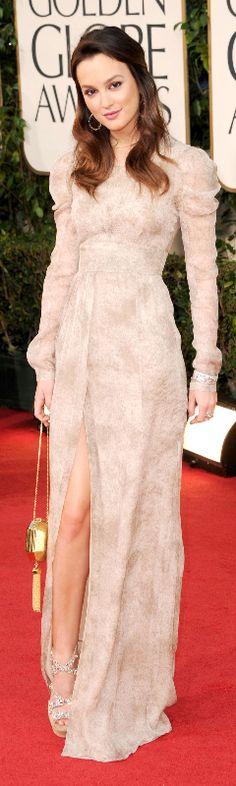 Leighton Meester at the Golden Globe Awards