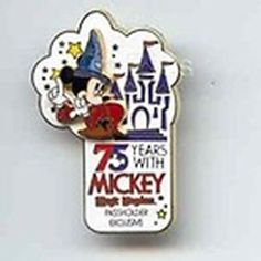 SORCERER 75 YEARS With MICKEY MAGIC KINGDOM 2003 LE PASSHOLDER Disney PIN