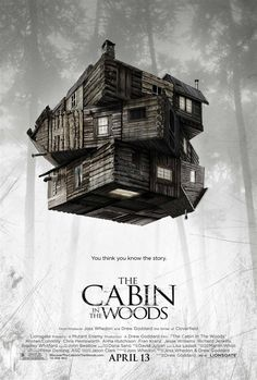 Joss Whedon's THE CABIN IN THE WOODS - creepy levitation in monotone color scheme, with the Rubik's Cube twist hinting at plot twists galore...