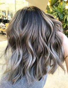 Long Wavy Ash-Brown Balayage - 20 Light Brown Hair Color Ideas for Your New Look - The Trending Hairstyle Ombre Hair Color, Brown Hair Colors, Hair Colour, Spring Hair Colors, Ombre For Dark Hair, Spring Hairstyles, Hairstyles 2018, Gray Hairstyles, Blonde Hairstyles
