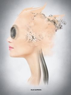 Mirage Digital Arts by Kementaris Hyperrealism, Photorealism, Steampunk, Surreal Art, Photomontage, Female Portrait, Alice In Wonderland, Buy Art, Photo Art
