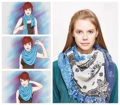 Maneras de llevar el pañuelo con estilo... Chicas, guardamos para no perder!!