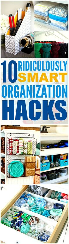 These 10 home hacks that'll made you an organization genius are THE BEST! I'm so glad I found these GREAT tips! Now I can have a cute and organized house! Definitely repinning for later!