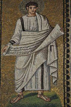 Saints et Prophètes, Basilique Saint Apollinaire le Neuf (493-526), via di Roma, Ravenne, Emilie-Romagne, Italie. #TuscanyAgriturismoGiratola