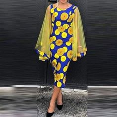 Ericdress Long Sleeve Mid-Calf Patchwork Pullover Dress , formal dresses maxi dresses womens dresses summer dresses party dresses long dresses casual dresses dresses for wedding , # African Fashion Ankara, Latest African Fashion Dresses, African Print Fashion, Latest Fashion, Fashion Trends, Short African Dresses, Ladies Day Dresses, Ethno Style, Ankara Dress Styles