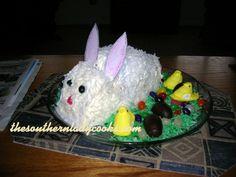 EASY EASTER BUNNY CAKE