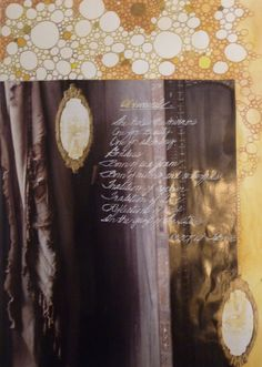 Alchemical-Poetry with collage from the Book of Legend-Ravens At My Window/Roses On My Wall 2012 by Deborah K. Tash.